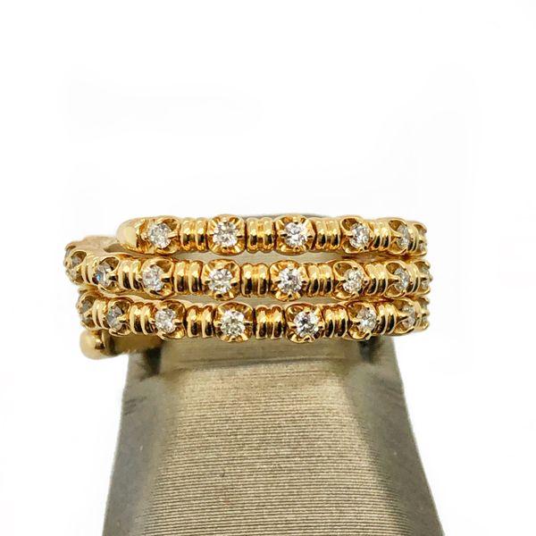 14K Yellow Gold Diamond Flexible Ring Image 2 Vandenbergs Fine Jewellery Winnipeg, MB