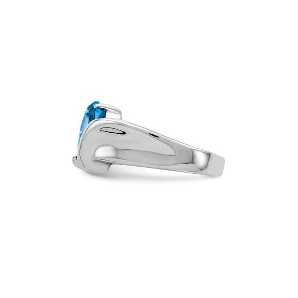 Sterling Silver Blue Cubic Zirconia Ring Image 2 Vandenbergs Fine Jewellery Winnipeg, MB