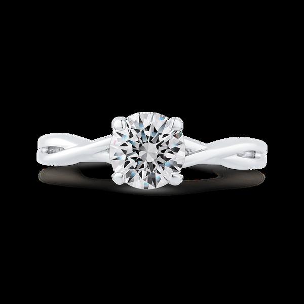 White Gold Semi-Mount Solitaire Engagement Ring Vandenbergs Fine Jewellery Winnipeg, MB