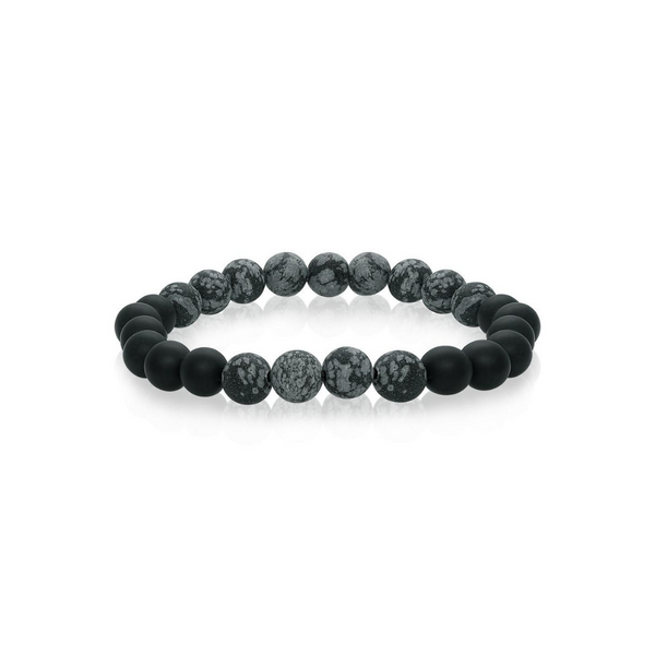 Mix Marble Black Onyx Bead Bracelet Vandenbergs Fine Jewellery Winnipeg, MB