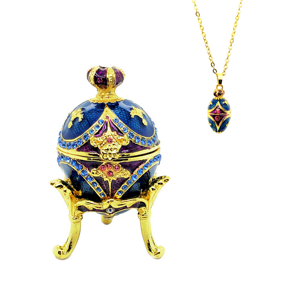 Regal Azure Egg Trinket Box Vandenbergs Fine Jewellery Winnipeg, MB