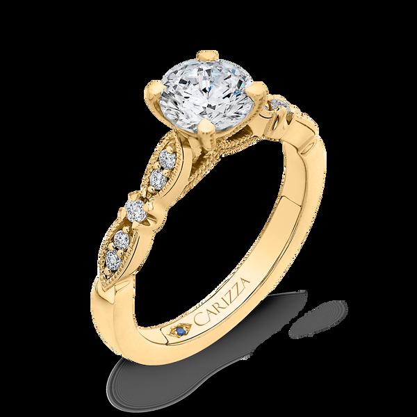 Vintage Style Semi-Mount Engagement Ring Image 2 Vandenbergs Fine Jewellery Winnipeg, MB
