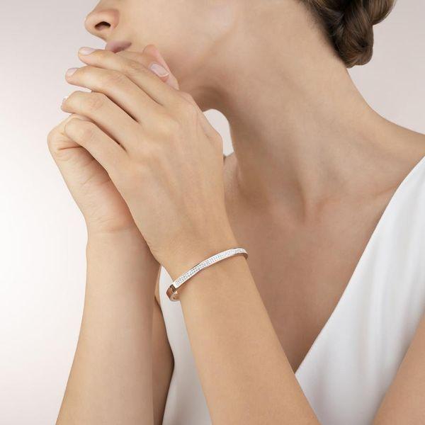 Rose & Crystal Bangle Bracelet Image 2 Vandenbergs Fine Jewellery Winnipeg, MB