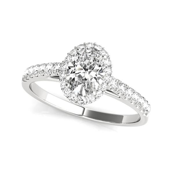 14K White Oval Halo Lab Grown Diamond Engagement Ring Vandenbergs Fine Jewellery Winnipeg, MB