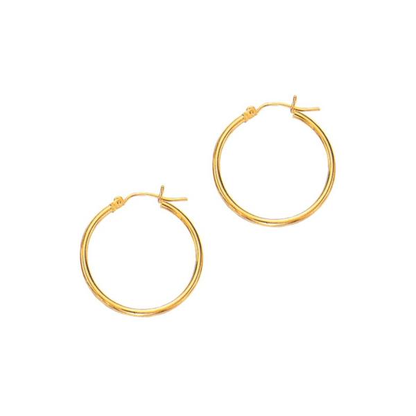 14K Yellow Gold 2mm Hoop Earrings Vandenbergs Fine Jewellery Winnipeg, MB