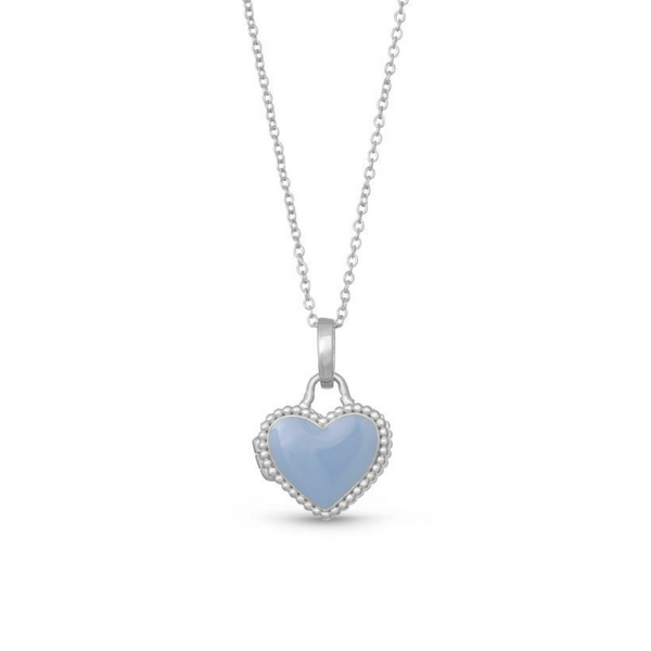 """Olivia Blue"" Sterling Silver Heart Locket Vandenbergs Fine Jewellery Winnipeg, MB"