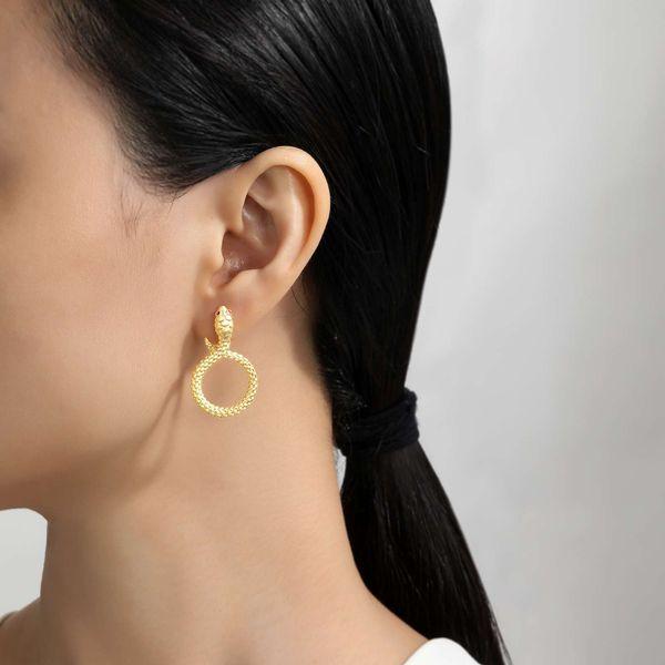 Modern Snake Earrings Image 2 Vandenbergs Fine Jewellery Winnipeg, MB