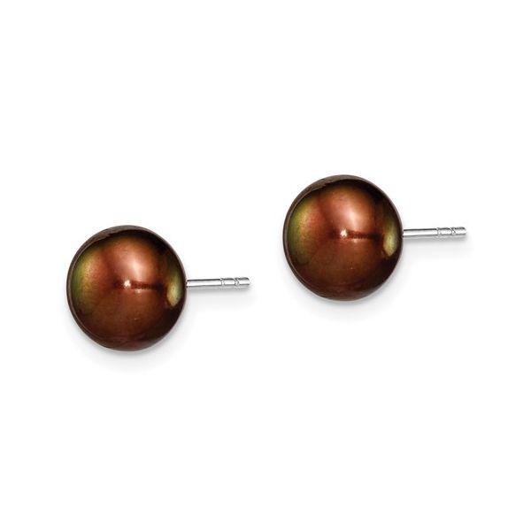 Cultured Button Pearl Stud Earrings Image 2 Vandenbergs Fine Jewellery Winnipeg, MB