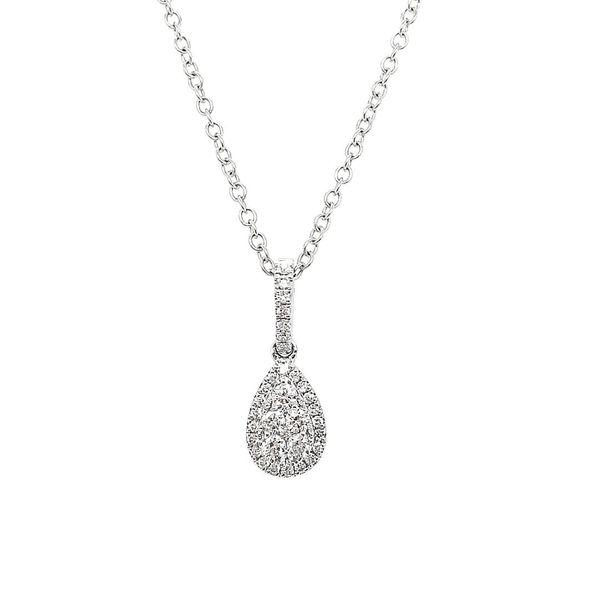 14K White Gold Diamond Pear Shaped Necklace Vandenbergs Fine Jewellery Winnipeg, MB