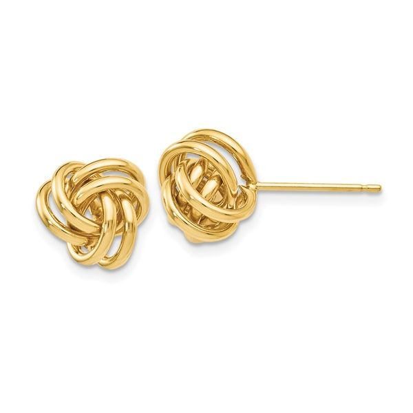 14K Yellow Gold Knot Post Earrings Image 2 Vandenbergs Fine Jewellery Winnipeg, MB