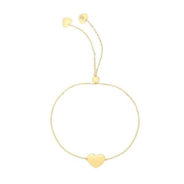 14K Gold Heart Bracelet Vandenbergs Fine Jewellery Winnipeg, MB
