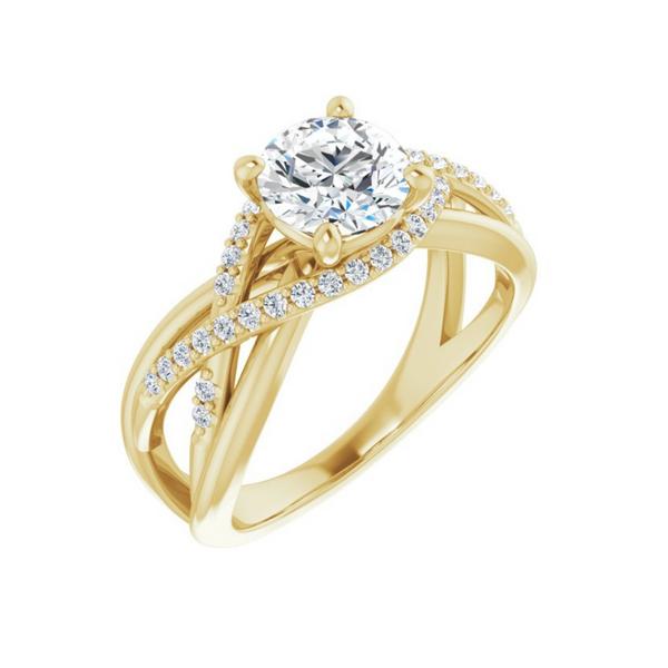 14K Yellow 6.5 mm Round Engagement Ring Mounting Vandenbergs Fine Jewellery Winnipeg, MB
