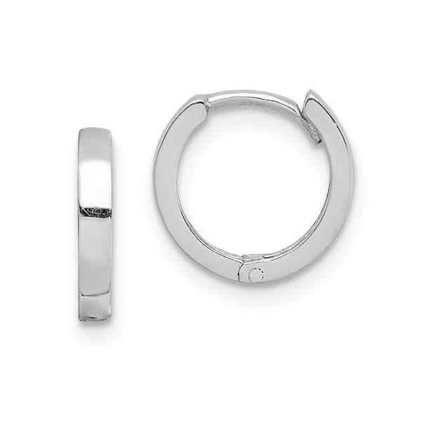 Polished Hinged Mini Hoop Earrings Vandenbergs Fine Jewellery Winnipeg, MB