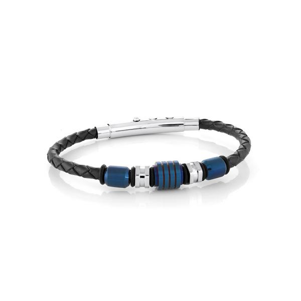 Steel Blue Leather Bracelet Vandenbergs Fine Jewellery Winnipeg, MB