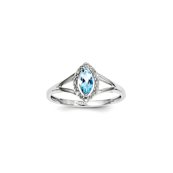 Diamond & Sky Blue Topaz Marquise Ring Vandenbergs Fine Jewellery Winnipeg, MB
