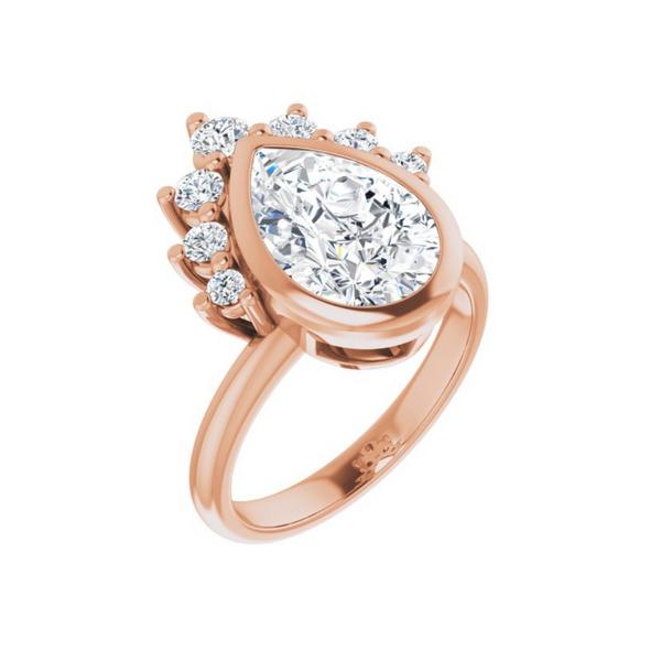 Rose 12x8 mm Pear Engagement Ring Mounting Vandenbergs Fine Jewellery Winnipeg, MB