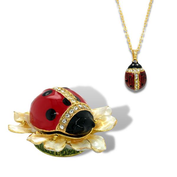 Blooming Ladybug Trinket Box Vandenbergs Fine Jewellery Winnipeg, MB