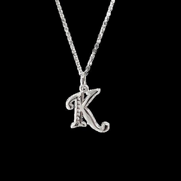 Sterling Silver CZ Letter K Necklace Vandenbergs Fine Jewellery Winnipeg, MB