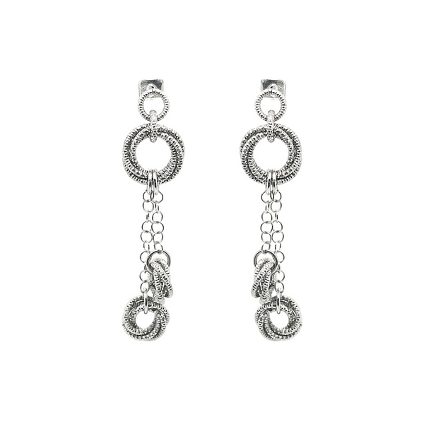 Frederic Duclos Dangle Knot Earrings Vandenbergs Fine Jewellery Winnipeg, MB