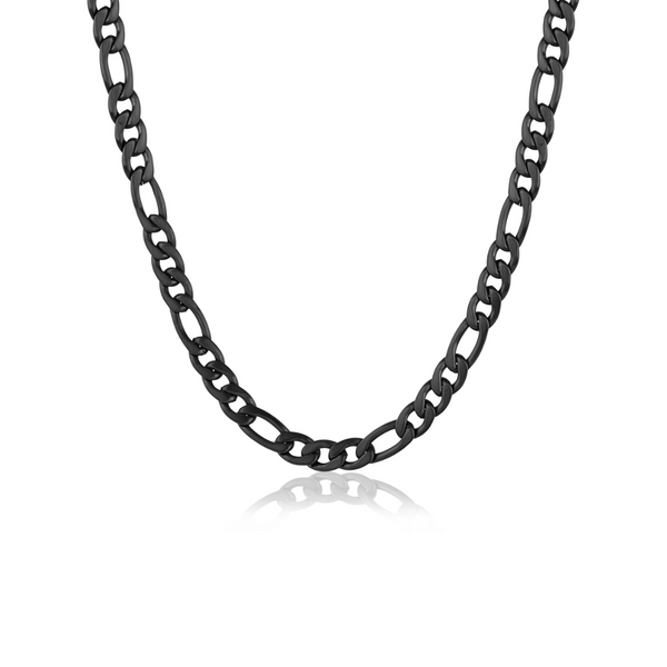 Black Steel Figaro Chain Vandenbergs Fine Jewellery Winnipeg, MB