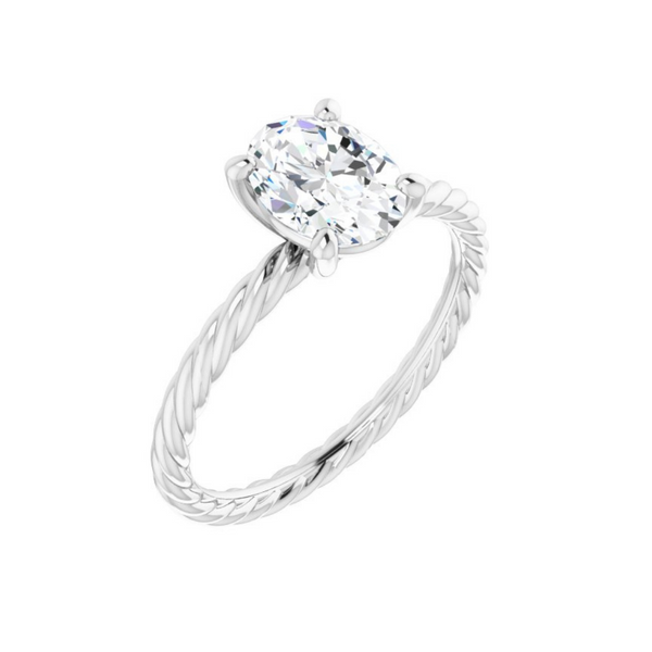 Solitaire Rope Engagement Ring Mounting Vandenbergs Fine Jewellery Winnipeg, MB