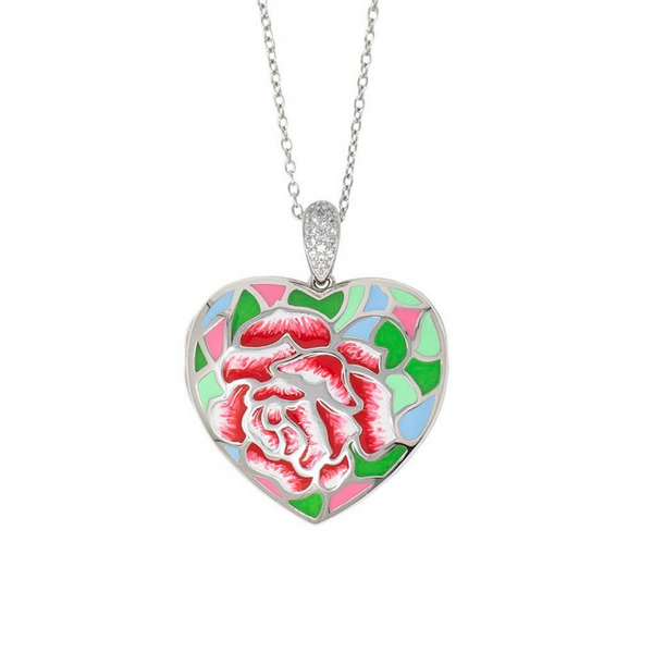 "White Topaz Floral ""Sonia"" Locket Vandenbergs Fine Jewellery Winnipeg, MB"