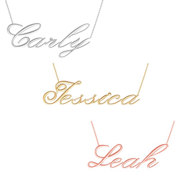 Script Name Necklace Image 2 Vandenbergs Fine Jewellery Winnipeg, MB