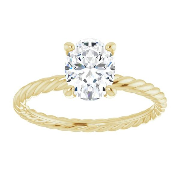 Solitaire Rope Engagement Ring Mounting Image 2 Vandenbergs Fine Jewellery Winnipeg, MB