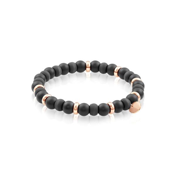 Steel & Carbon Fibre Rose Bead Bracelet Vandenbergs Fine Jewellery Winnipeg, MB