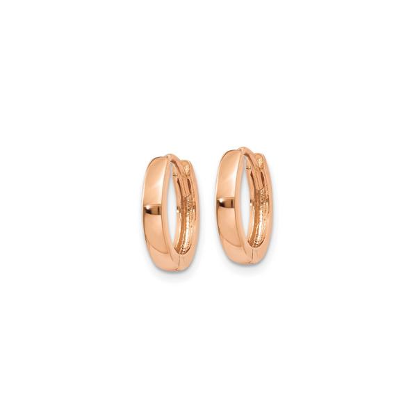 14k Rose Gold Mini Hoop Earrings Image 2 Vandenbergs Fine Jewellery Winnipeg, MB
