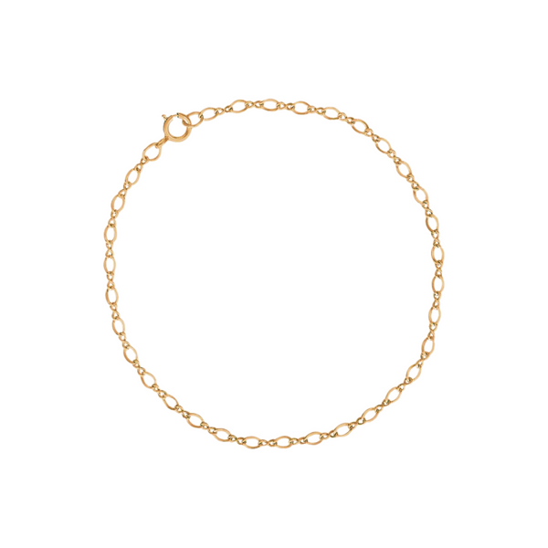 "8"" Yellow Gold Plated Sterling Silver Bracelet Vandenbergs Fine Jewellery Winnipeg, MB"