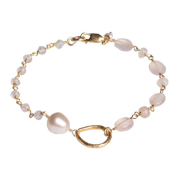 Rose Quartz & Pearl Bracelet Vandenbergs Fine Jewellery Winnipeg, MB