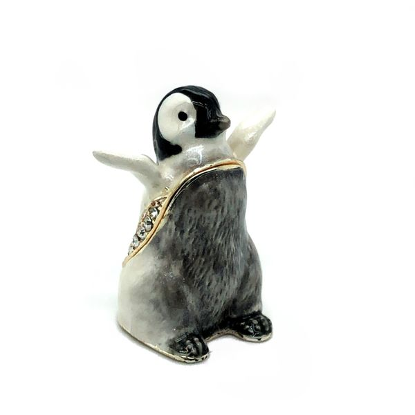 Flippity Penguin Trinket Box Image 2 Vandenbergs Fine Jewellery Winnipeg, MB
