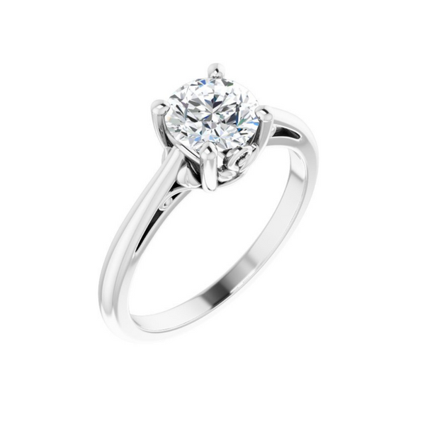 Round Solitaire Engagement Ring Mounting Vandenbergs Fine Jewellery Winnipeg, MB