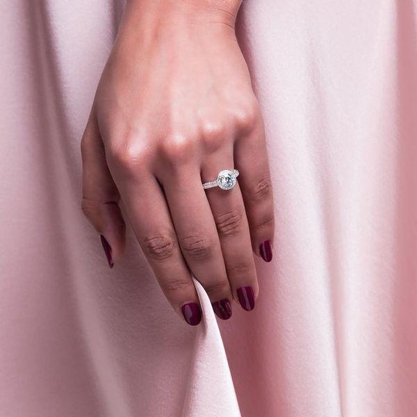 14K White 6.5 mm Round Engagement Ring Mounting Image 2 Vandenbergs Fine Jewellery Winnipeg, MB