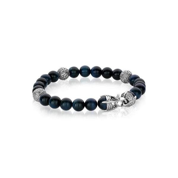 Stainless Steel Blue Bead Bracelet Vandenbergs Fine Jewellery Winnipeg, MB
