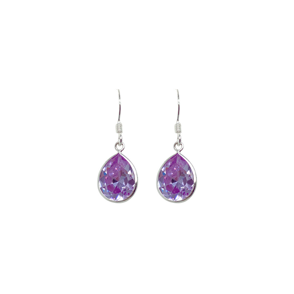 Sterling Silver Purple CZ Earrings Vandenbergs Fine Jewellery Winnipeg, MB