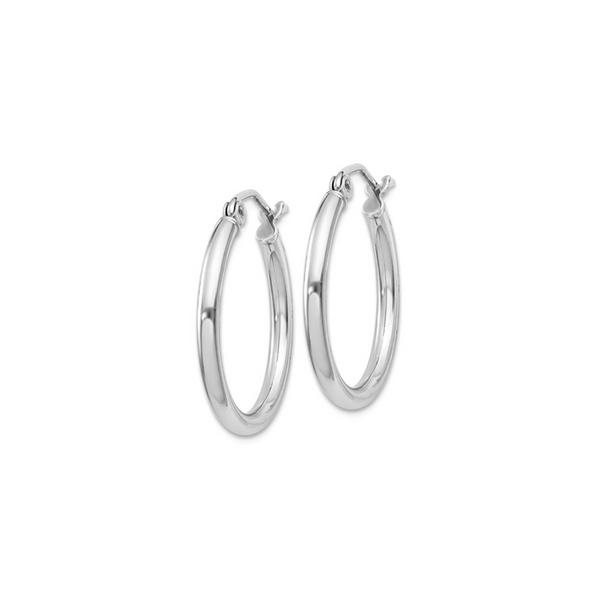Silver 2mm Hoop Earrings Vandenbergs Fine Jewellery Winnipeg, MB