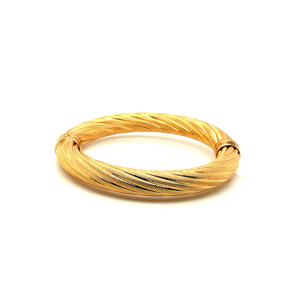 18K Gold Plated Bangle Vandenbergs Fine Jewellery Winnipeg, MB