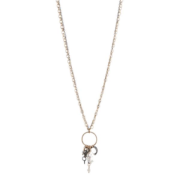 Labrodite & Pearl Necklace Image 2 Vandenbergs Fine Jewellery Winnipeg, MB