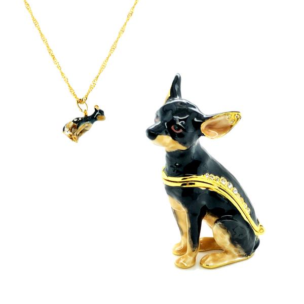 Midnight Chihuahua Trinket Box Vandenbergs Fine Jewellery Winnipeg, MB