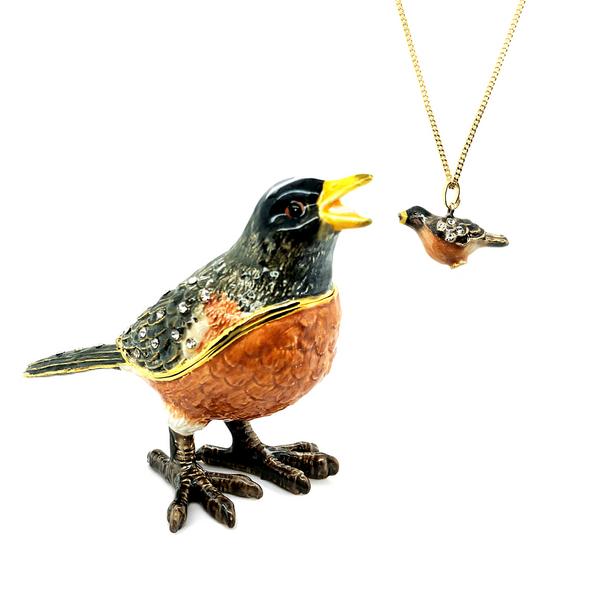 Springtime Singing Robin Trinket Box Vandenbergs Fine Jewellery Winnipeg, MB