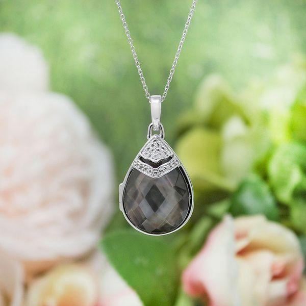 """Black Mother of Pearl """"Ella"""" Locket Image 2 Vandenbergs Fine Jewellery Winnipeg, MB"""