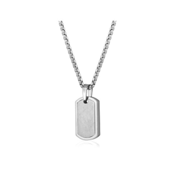 Stainless Steel Tag Necklace Vandenbergs Fine Jewellery Winnipeg, MB
