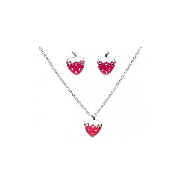 Girls Strawberry Necklace & Stud Set Vandenbergs Fine Jewellery Winnipeg, MB