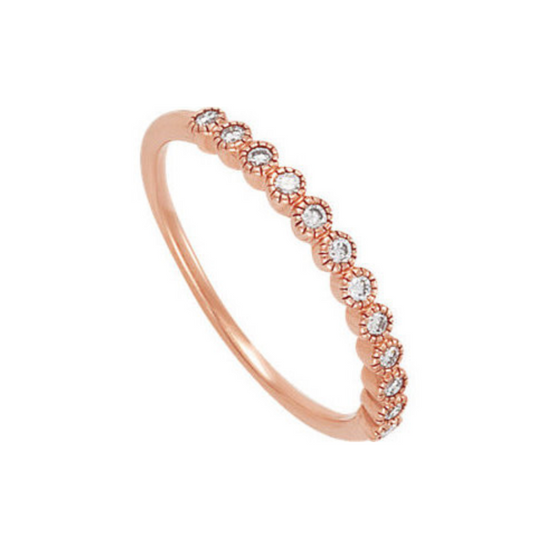 14K Rose Gold Diamond Band Vandenbergs Fine Jewellery Winnipeg, MB