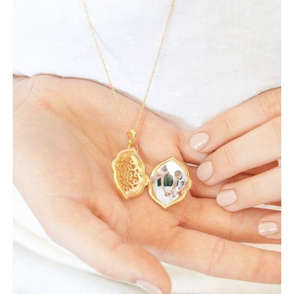 "Sterling Silver Gold Plated ""Maggie"" Locket Image 2 Vandenbergs Fine Jewellery Winnipeg, MB"