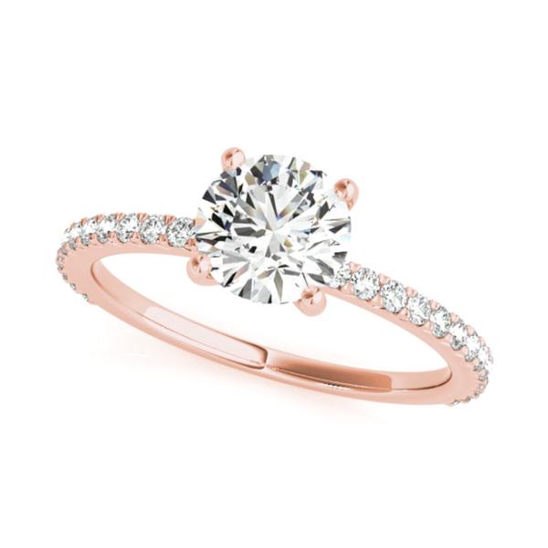 14K Rose Round Lab Grown Diamond Engagement Ring Vandenbergs Fine Jewellery Winnipeg, MB