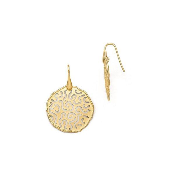 Sterling Silver Gold Plated Disc Earrings Vandenbergs Fine Jewellery Winnipeg, MB