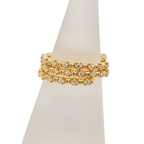 14K Yellow Gold Diamond Flexible Ring Vandenbergs Fine Jewellery Winnipeg, MB